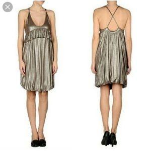 Stella McCartney Bronze Metallic Strappy Dress NWT